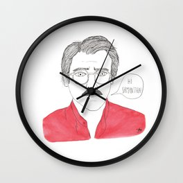 Her - Joaquin Phoenix Wall Clock
