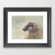 The Lord is my Shepherd Framed Art Print