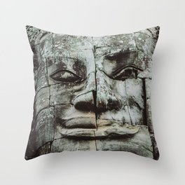 Buddha mosaic Throw Pillow