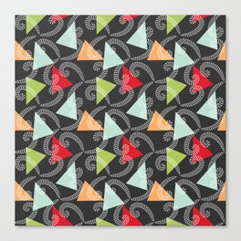 Worms and Triangles Canvas Print