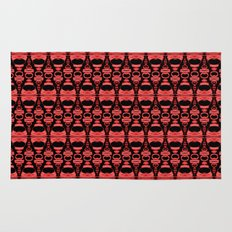 Dividers 02 in Red over Black Rug