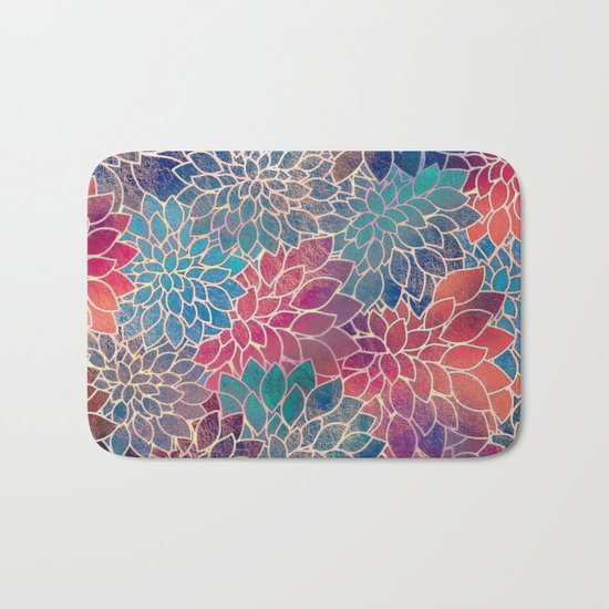 Floral Abstract 8 Bath Mat