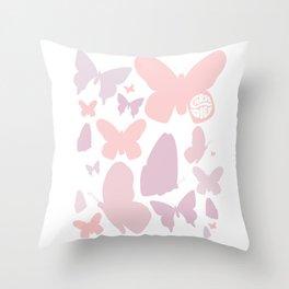 Carpe diem, seize the day butterflies Throw Pillow