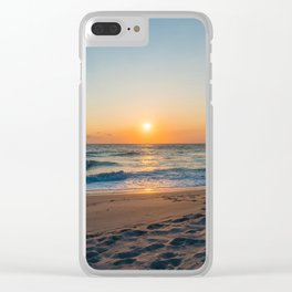 Canaveral Sunrise Clear iPhone Case