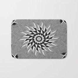 Gray Kaleidoscope Art 21 Bath Mat