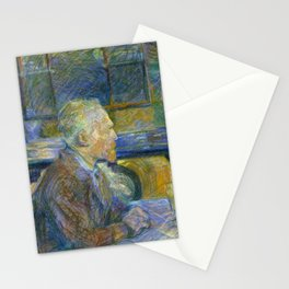 Portrait of Vincent Van Gogh by Toulouse Lautrec Stationery Cards