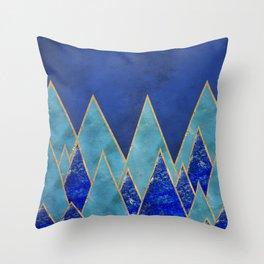 Gemstone mountains Throw Pillow