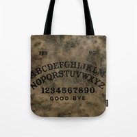ouija Tote Bags featuring Ouija by Andrea Raths