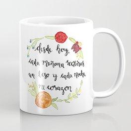 Un Beso y Mi Corazon Coffee Mug