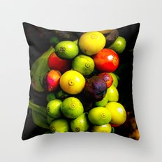 Coffee in the raw Throw Pillow