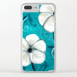 Flowers in Oil Clear iPhone Case