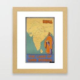 INDIA-LAND OF LORD BUDDHA Framed Art Print