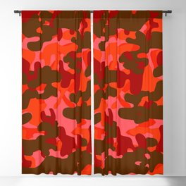 Camouflage (Red) Blackout Curtain
