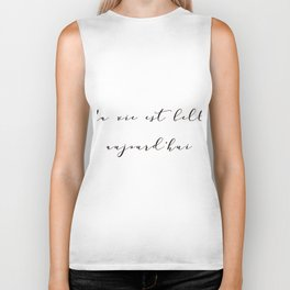 Ma vie est belle aujourd'hui My life is beautiful today French Inspirational Quote Print Home Decor Biker Tank