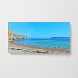 Perce Beach panoramic Metal Print