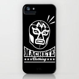 Machete Mask (White) iPhone Case