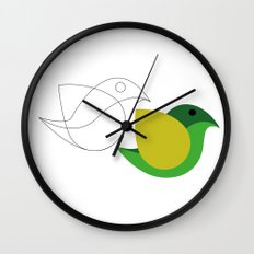 Bird is the word Wall Clock
