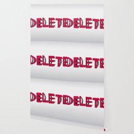 Delete Typography Wallpaper