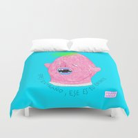 sloth Duvet Covers featuring SLOTH by Marina Nosequé