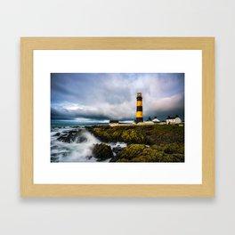 St. John's Point Lighthouse - Print  County Down, Northern Ireland.(RR 265) Framed Art Print