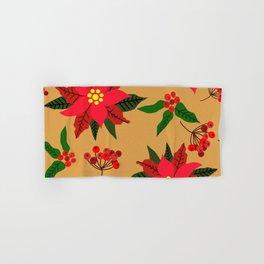 Winter Floral, Christmas Stars Hand & Bath Towel