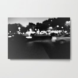 Night, Lights, Traffic, Paris Metal Print