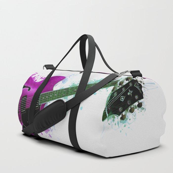 Electric Guitar Purple Duffle Bag