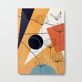 Vibrant Flower Design 3 Metal Print