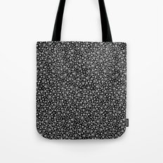 Flora Black Tote Bag