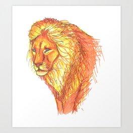 Bright Lion Art Print