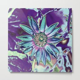 DAISY SPIKE GREEN/PURPLE Metal Print