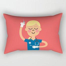 Surgery with a Smile Rectangular Pillow