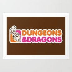 D&D All Nighter Art Print