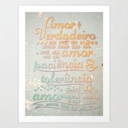 Amor verdadeiro Art Print