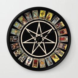 Fairy Star & Tarot Circle Wall Clock
