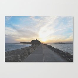 Sunsets in Newcastle Canvas Print