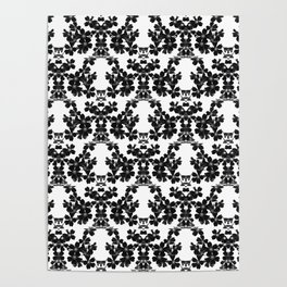 primrose bw pattern Poster