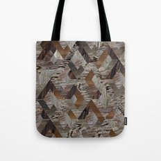 Wood Quilt Tote Bag