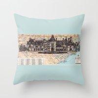 north carolina Throw Pillows featuring North Carolina by Ursula Rodgers