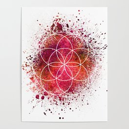 Seed of Life Sacred Geometry Poster