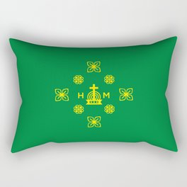 Affluence and God's Protection - Gold and Green Rectangular Pillow