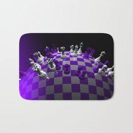 chess fantasy violet Bath Mat