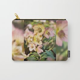 Helleborre pink flowering poisonus plant Carry-All Pouch
