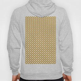Ivory white brown geometrical abstract squares pattern Hoody