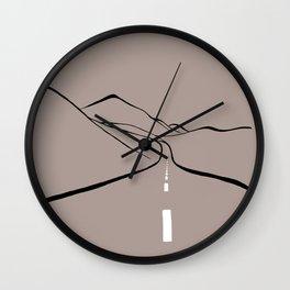 Long road Wall Clock