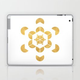 HEXAHEDRON CUBE sacred geometry Laptop & iPad Skin