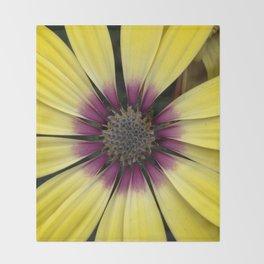 Yellow Calendula Throw Blanket