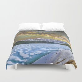 Milky way over Clinton reservoir Duvet Cover