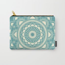 Boho Indian medallion Turquoise Carry-All Pouch