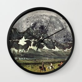 Mountains of Montanya Wall Clock
